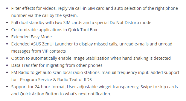 Asus Zenfone 4 Android 4.4 Update Changelog