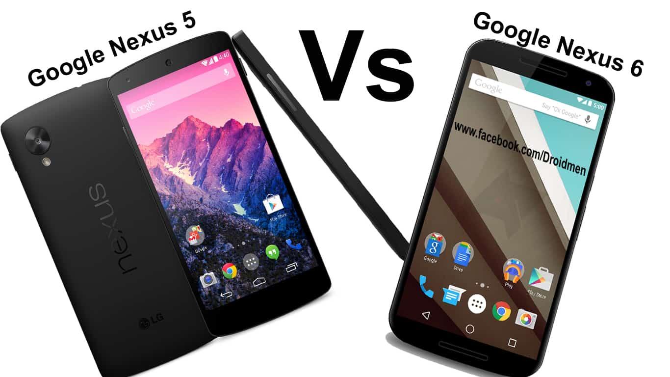 Google Nexus 6 vs Nexus 5 Comparison
