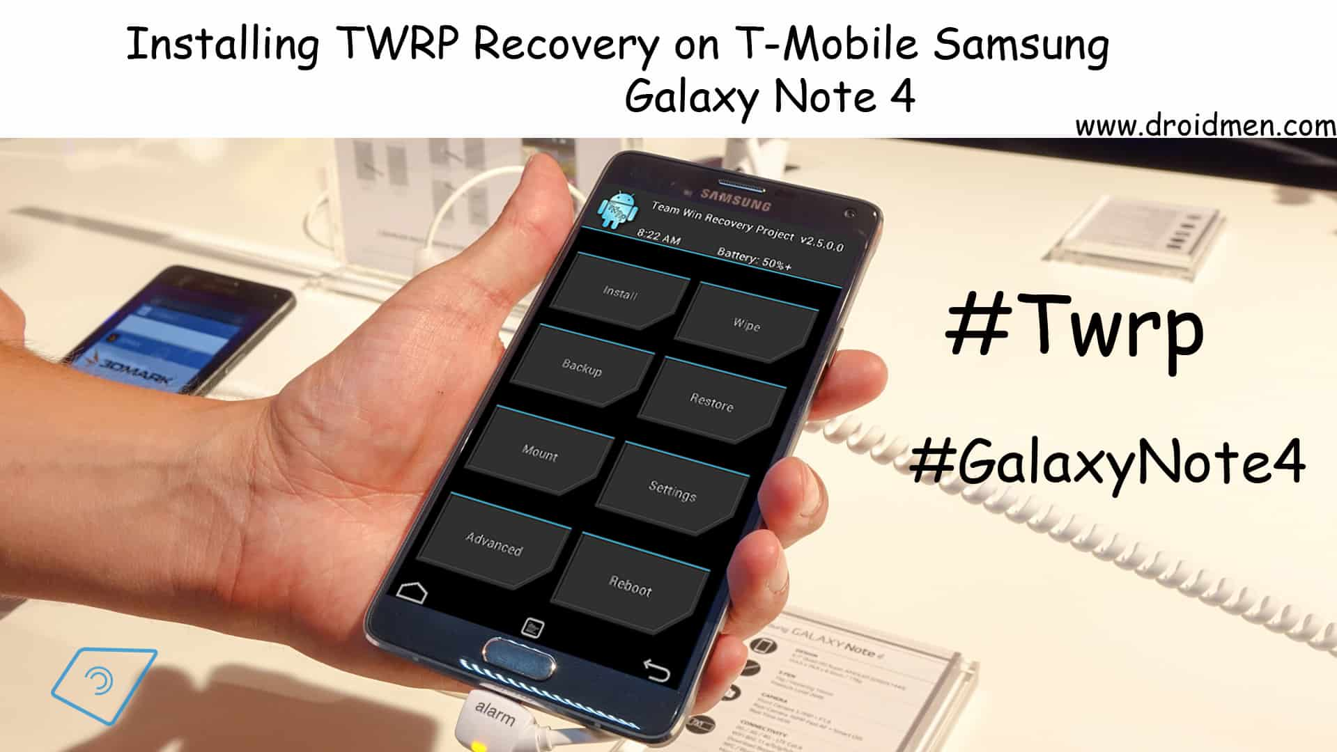 Install TWRP Recovery on T-Mobile Galaxy Note 4