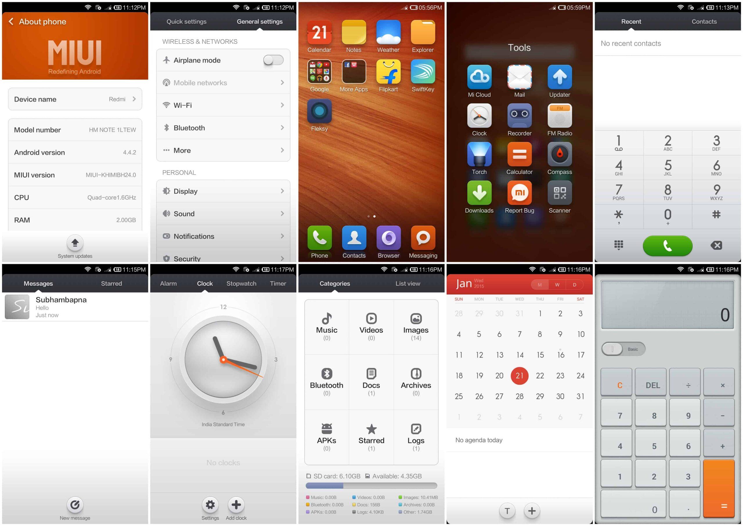 Redmi 4g UI and OS