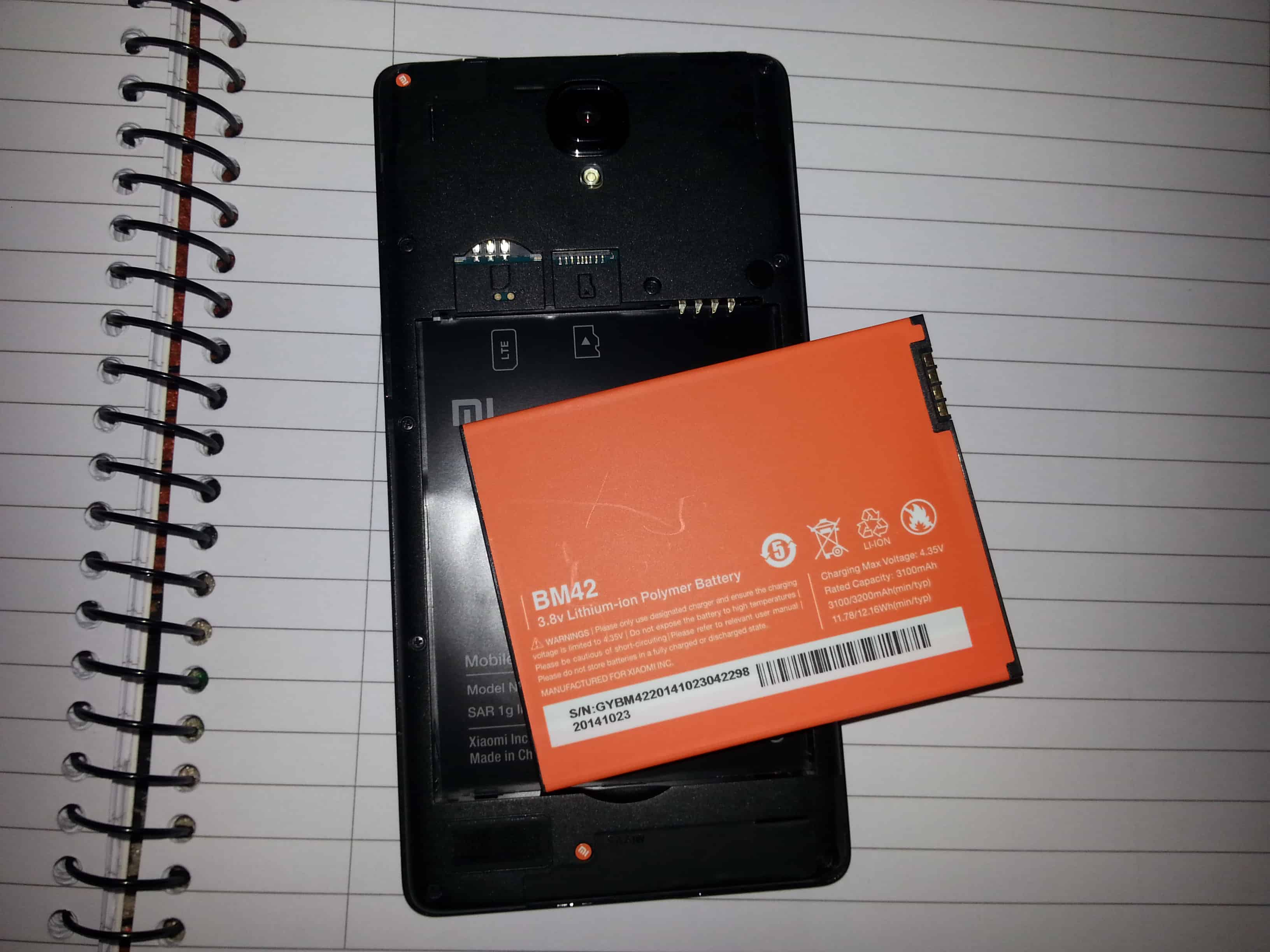 Redmi note 4g battery