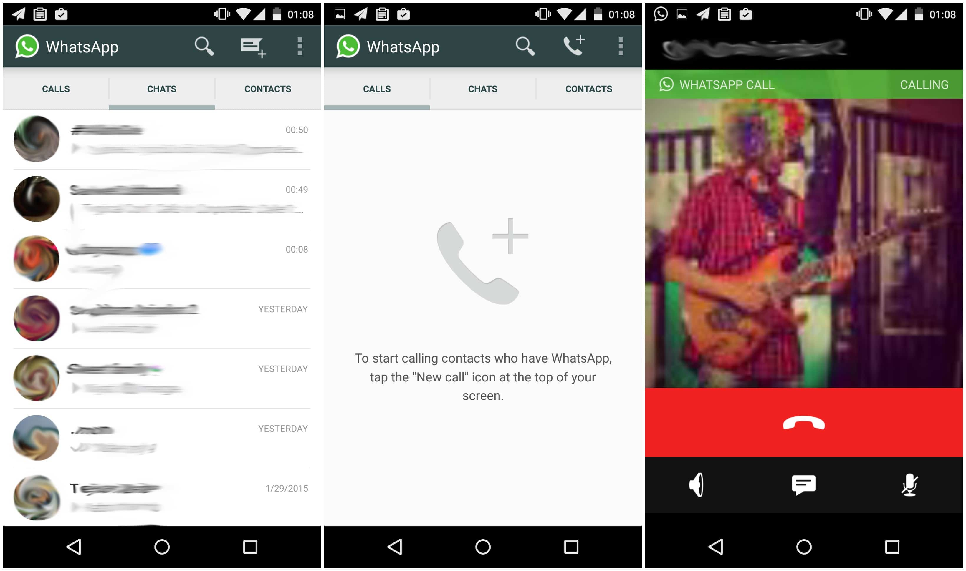 WhatsApp Calling Rolling Out