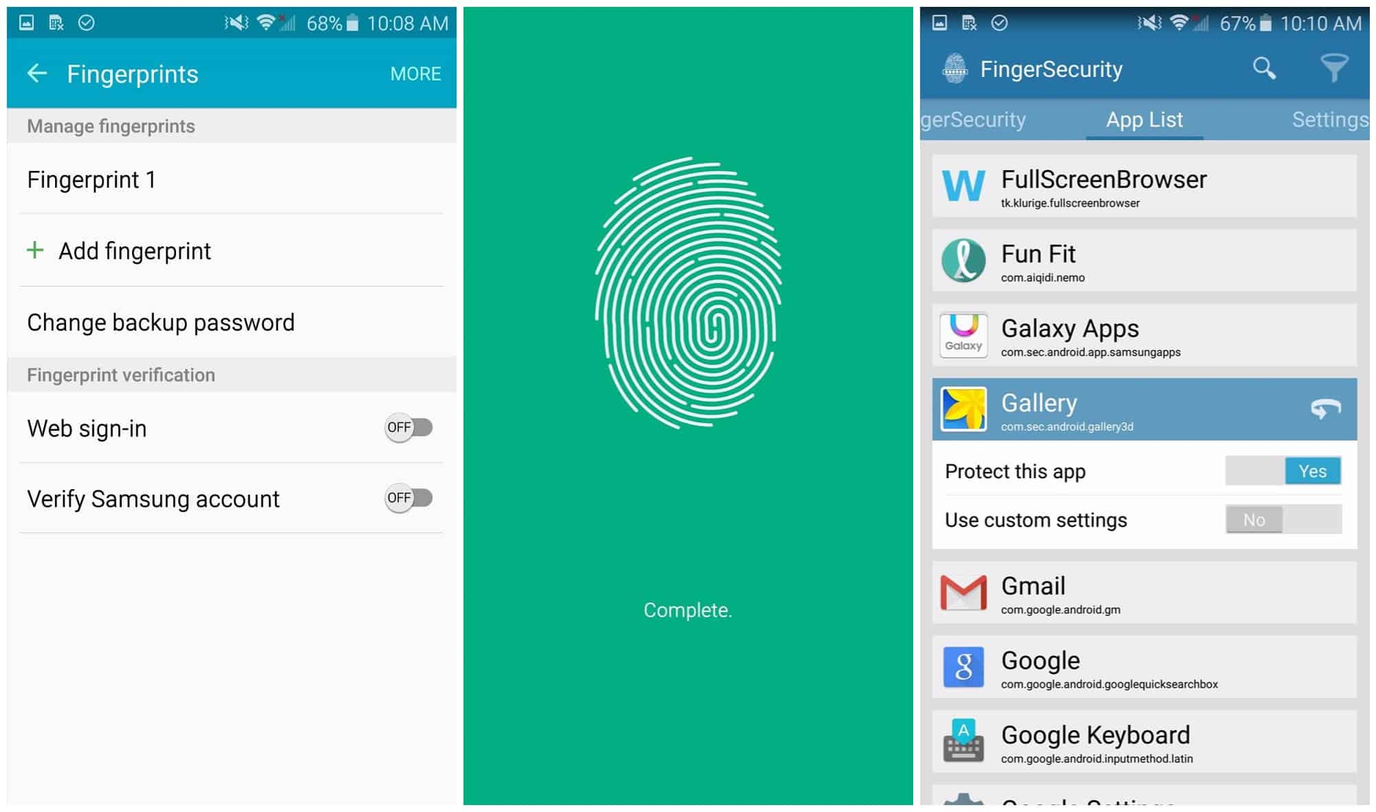 Lock Specific Apps using Fingerprint Lock