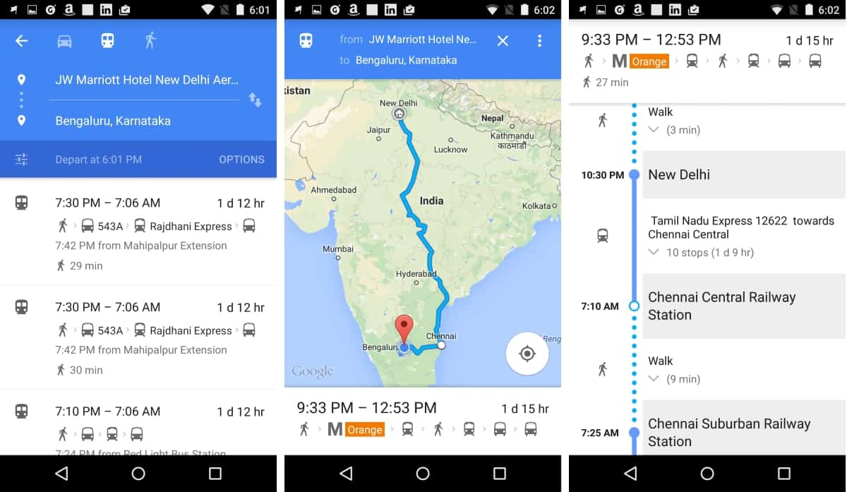 Google Maps Indian Railways