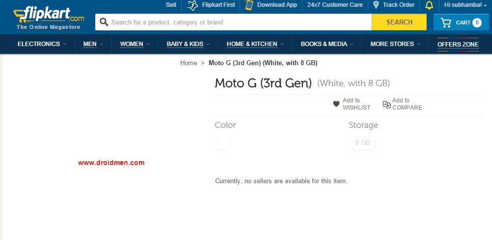 Moto G 3rd Gen Price in India Buy Moto G 3rd Gen White 8 Online Motorola Flipkart.com