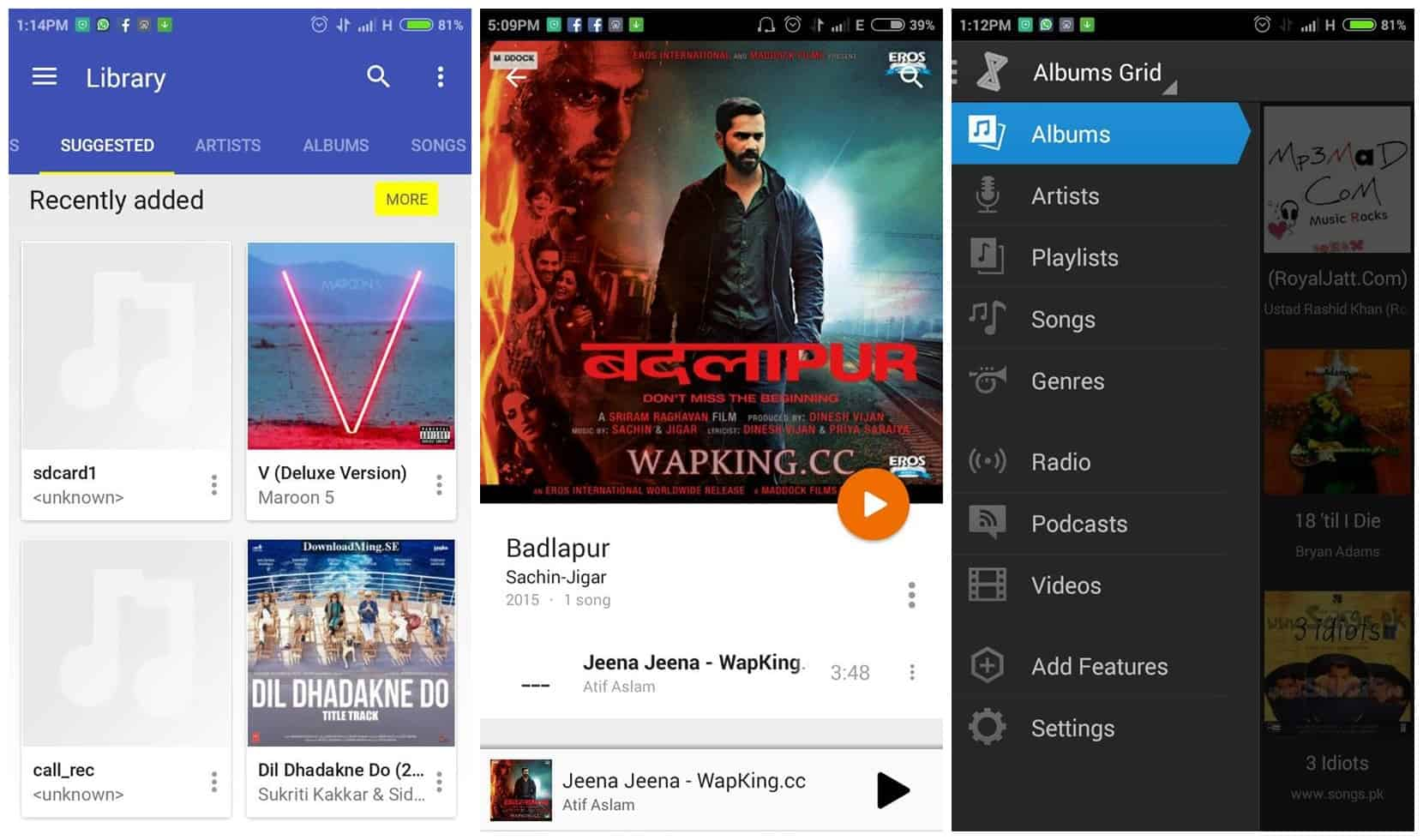 5 best android music players for free.
