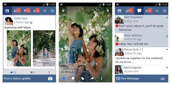 Facebook Lite Android App.