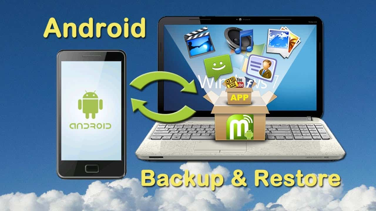 Backup and Restore android data to pc