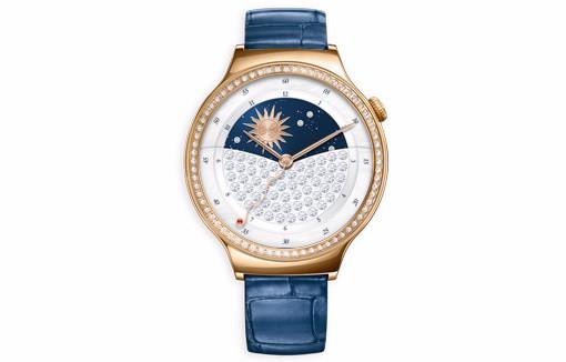 Blue strapped Huawei Watch Jewel with SWAROVSKI ZIRCONIA