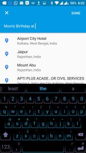 Adding location on the Calendar App