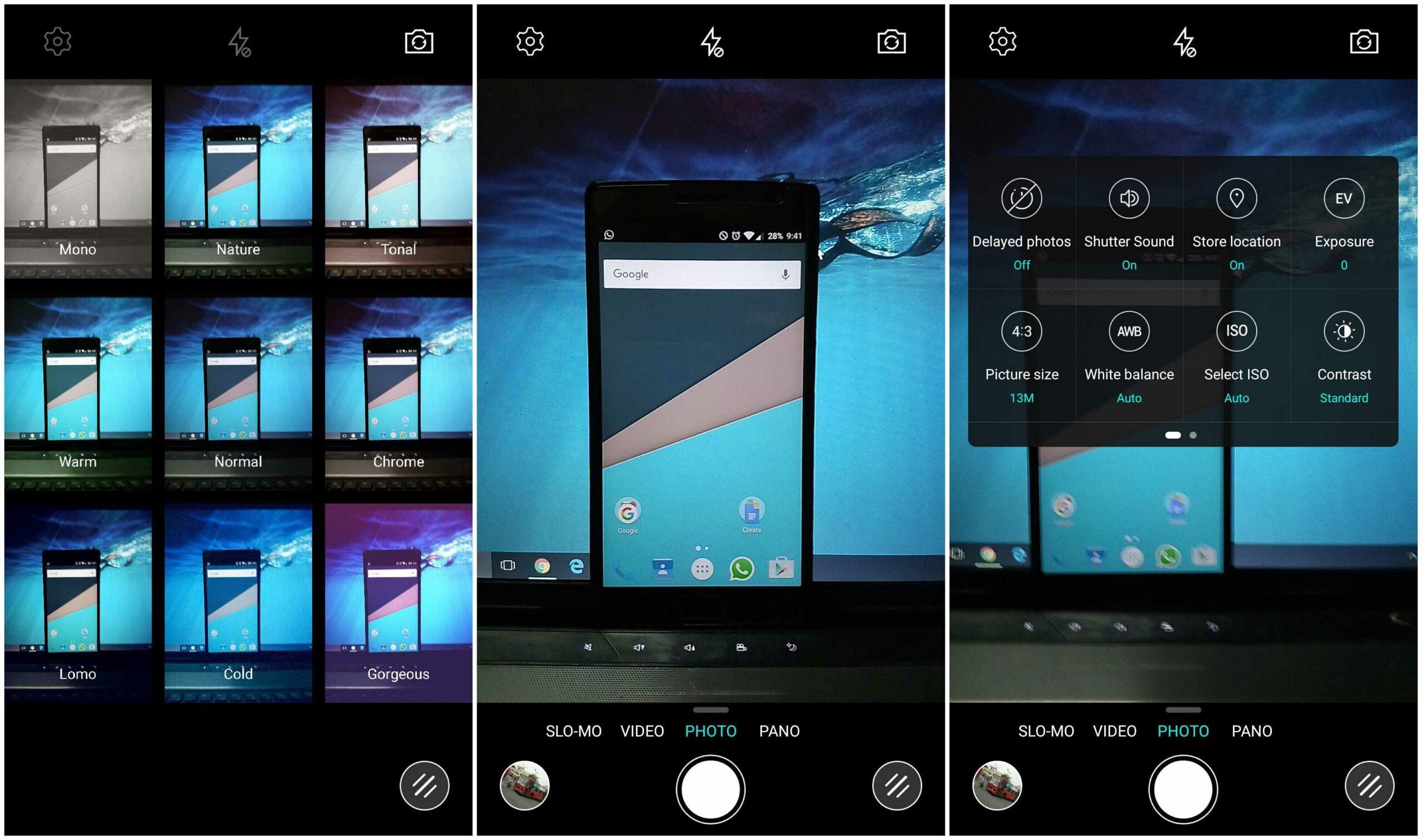 LeTV Le 1S camera interface like iphone